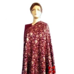 Pashmina Jammawar Papier-Machie Shawl Red