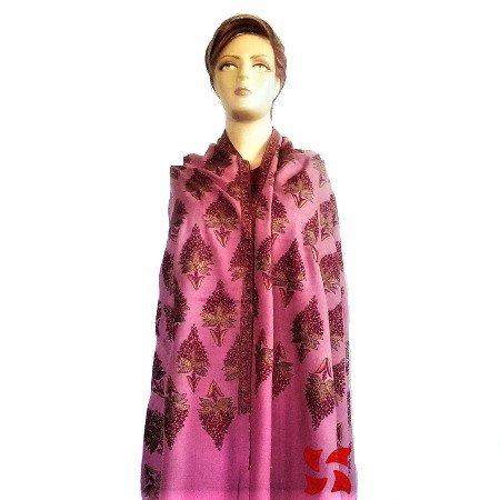 Botidar Pashmina Shawl Pink