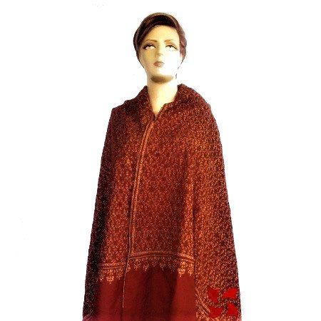 Botidar Pashmina Shawl Rust Color