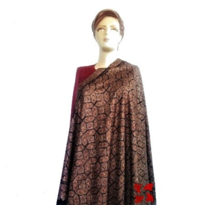 Pashmina Jammawar Shawl Black