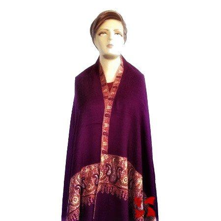 Palldar Pashmina Shawl Purple