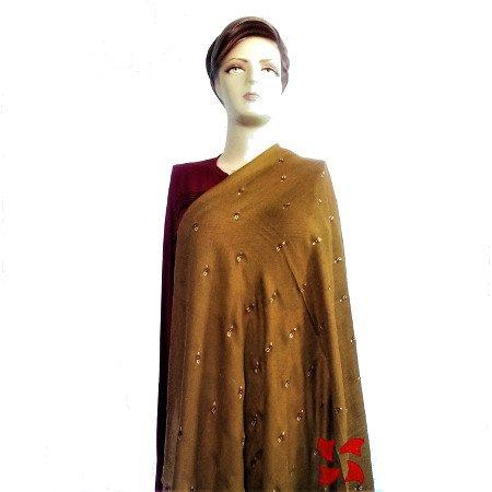Botidar Pashmina Shawl Rust Light Weight