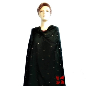 Botidar Pashmina Shawl Black Light Weight